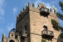 Ethiopia, Gondar, Royal Enclosure of Fasil Ghebbi, Tower of the Castle of Fasiledes