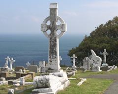 In the cemetery at St Tudno's Church - Eglwys Sant Tudno