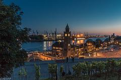 Blue Hour at the Waterfront - Blaue Stunde am Hafen (225°)