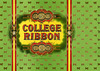 College Ribbon Cigar Box Label