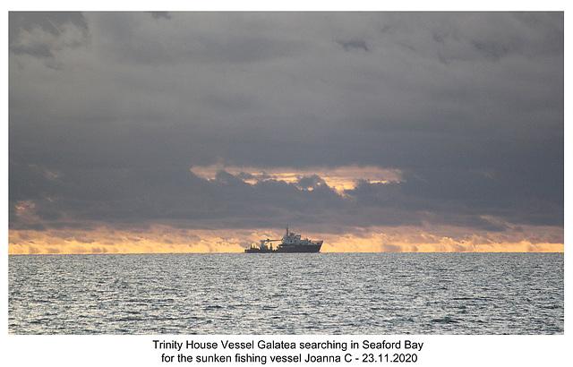 Trinity House Vessel Galatea - Seaford Bay - 23 11 2020