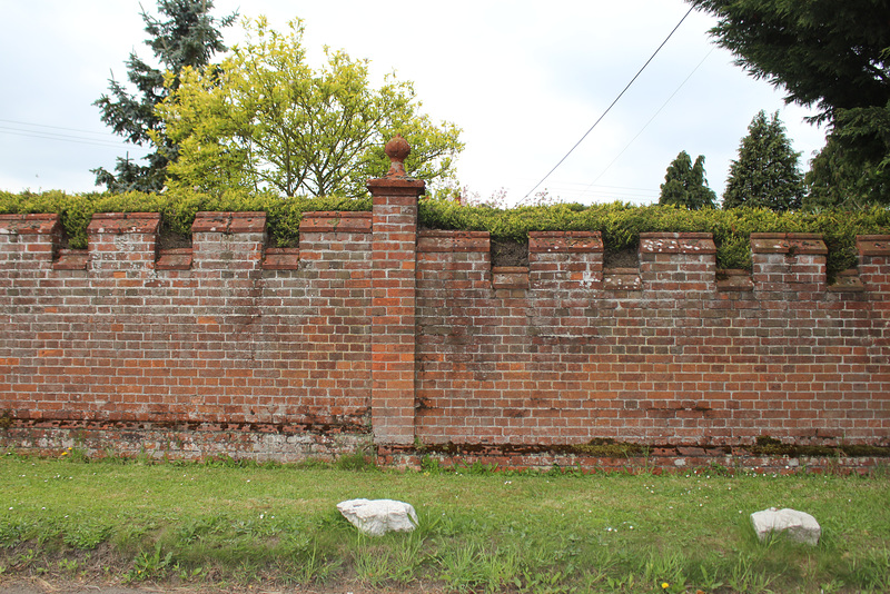 Park Wall to the demolished Flixton Hall, Suffolk