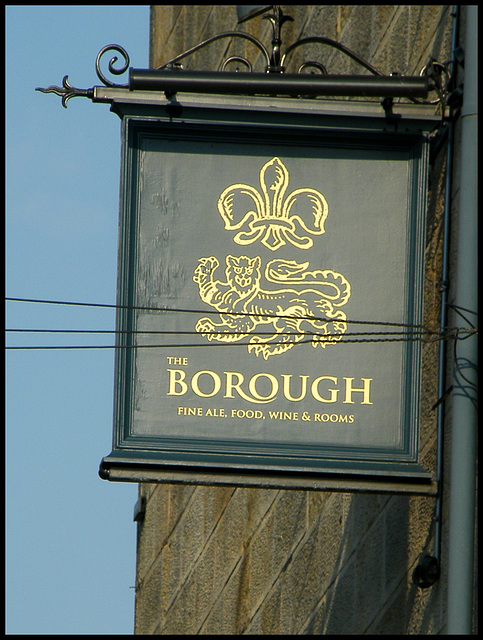 The Borough pub sign