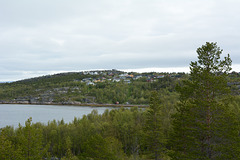 Norway, The Settlement of Alta on the Hill