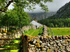Cumbrian dry stone walls and cottage, Ennerdale