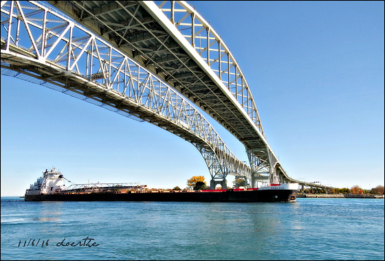 """Sam Laud"" under the Blue Water Bridge"