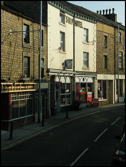 former Ship Hotel at Lancaster