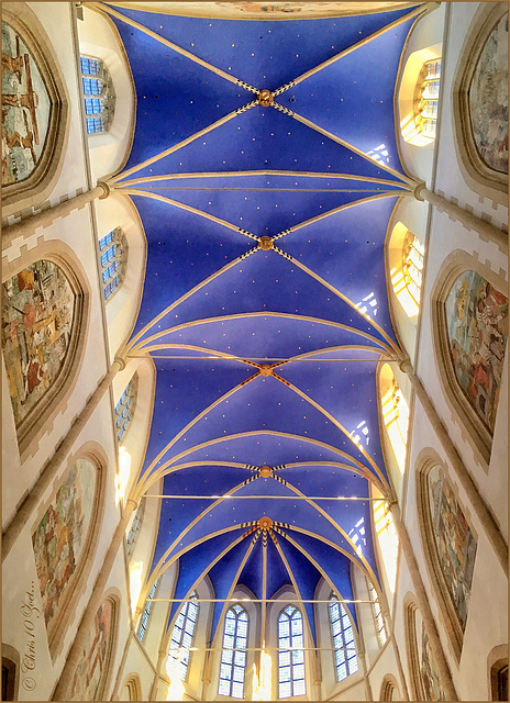 Ceiling of the Choir in the Martini Church, Groningen...