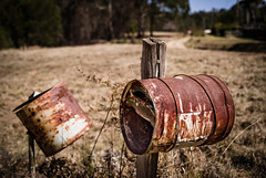 Old letterboxes