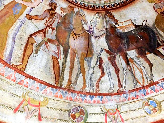 Wandmalerei im Thrakergrab von Kazanlak (Bulgarien)
