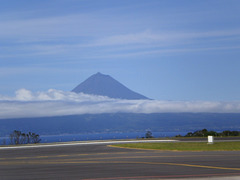 View from São Jorge to Pico.