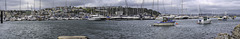 Panoramic view of Brixham Harbour