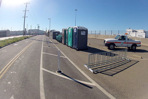 Alexander Zuckermann Bicycle-Pedestrian Path - not the last porta-potties (0017)