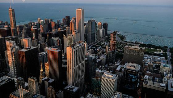 Chicago sunset...