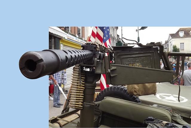 Jeep mitrailleuse perspective (éditée)