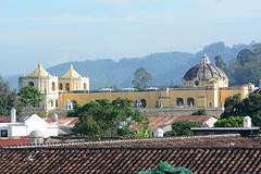 Antigua de Guatemala, City Rooftops and La Iglesia de la Merced