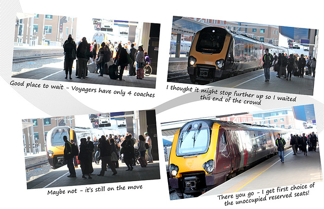 Pole position for boarding a Voyager - Reading - 20.4.2015