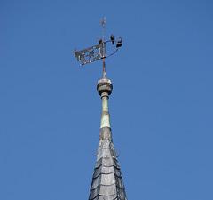 Turmspitze mit Wetterfahne