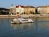 Budapest- 'Hungaria' Passing Buda Waterfront