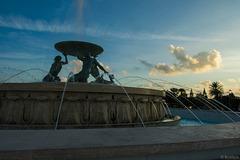 Funtana tat-Tritoni (Tritonenbrunnen), gestaltet 1955 bis 1959 vom maltesischen Bildhauer Vincent Apap.