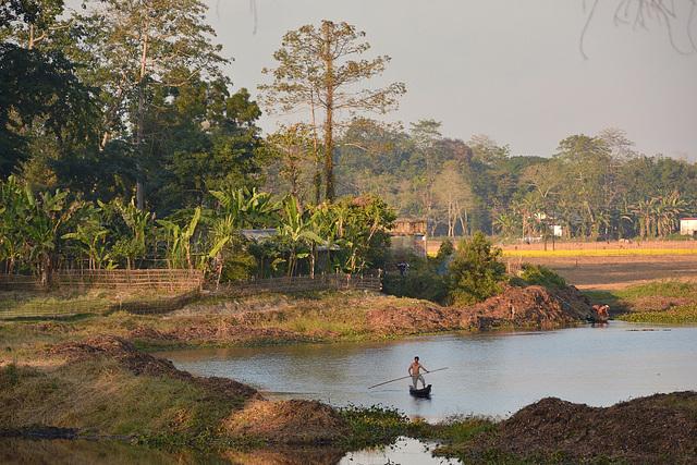 Majuli Island fisherman