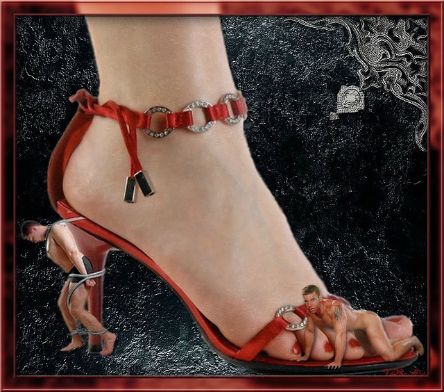 Au pied de leur Maîtresse ! At their Mistress' foot !