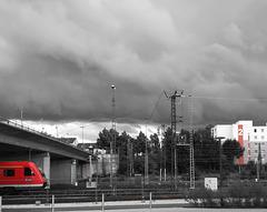 Red Locomotive Fence