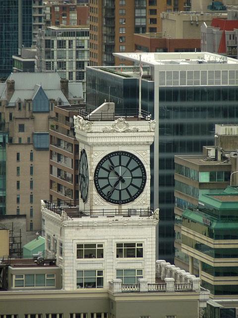 Clock on Vancouver Block Building