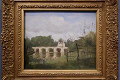 """""""Le pont de Mantes"""" (Camille Corot - vers 1850-1854)"""