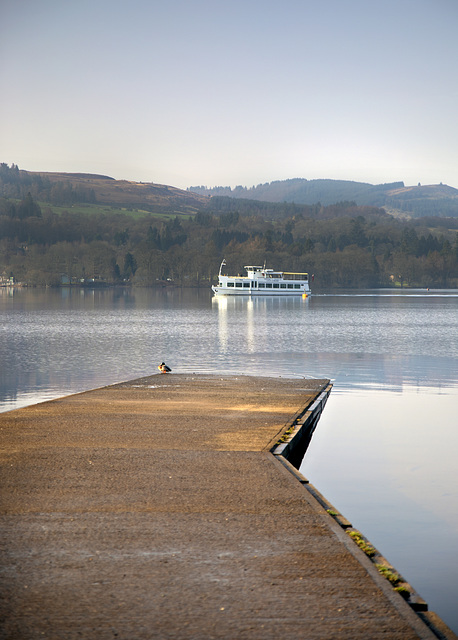 The 'Astina' Passing Balloch Castle Country Park Slipway, Loch Lomond