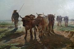 """""""Bœufs allant au labour, effet de matin"""" (détail) (Constant Troyon - 1855)"""