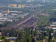 Blick auf den Bahnhof Lützel