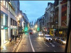 rainy morning in Fleet Street
