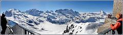 Zermatt : una panoramica da 3000 mt - osservatorio di Gornergrat