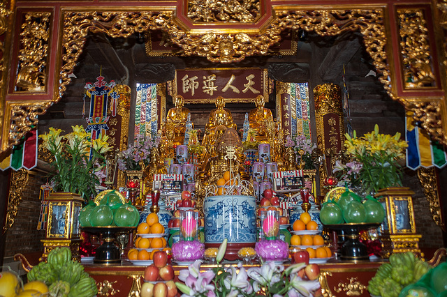 Altar in the temple on Fansipan top station