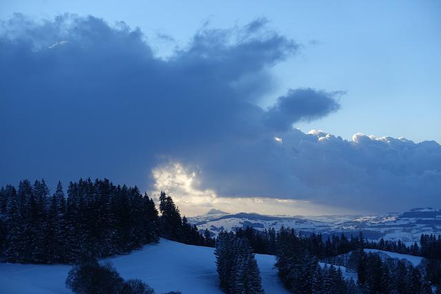 A view of the Guggershörnli from Schafegg