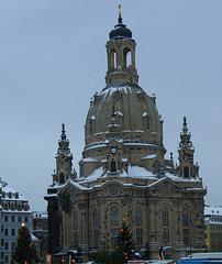 Dresdner Frauenkirche im Winter