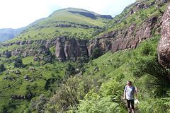 Ascending in the Drakensburgs