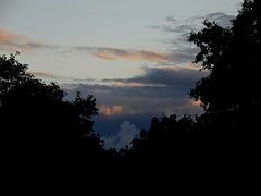 hier soir au coucher du soleil