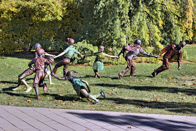 """""""Crack the Whip"""" – Grounds for Sculpture, Hamilton Township, Trenton, New Jersey"""