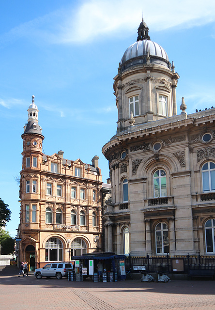 Former Yorkshire Penny Bank (left) and Dock Offices (right), Kingston upon Hull, East Riding of Yorkshire