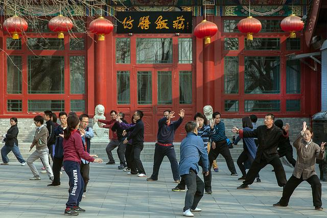 Tai chi in Beihai Park