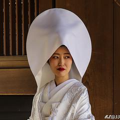 Mariée japonaise traditionnelle.