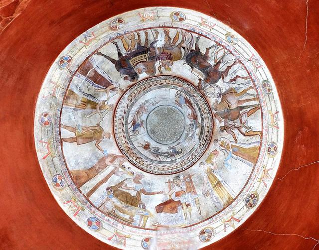 Kuppelgemälde in der thrakischen Grabkammer von Kazanlak (Bulgarien) aus dem 4. Jh. v. Chr.