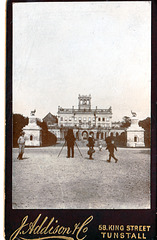 Trentham Hall, Staffordshire (demolished) from a late c19th carte de visite