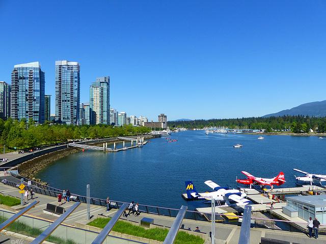 Der Zaun am False Creek, Vancouver