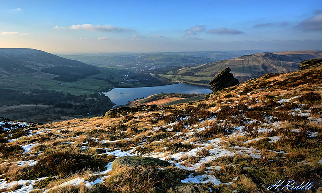 Dovestones from high