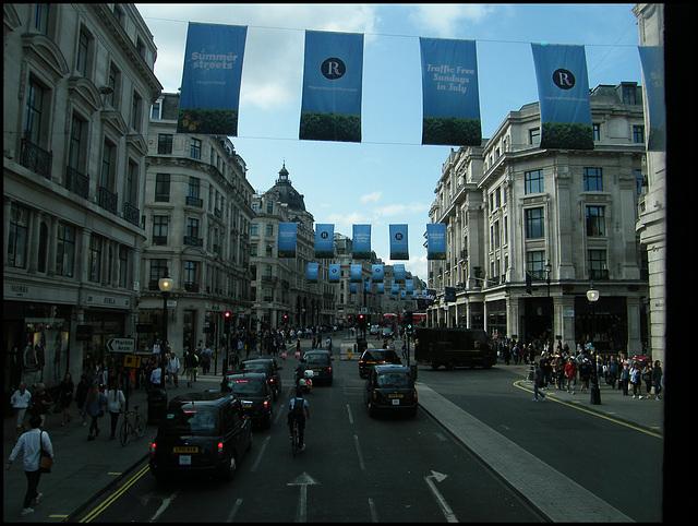 Regent Street summer weekends
