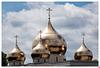 Die Kuppeln der neuen russisch-orthodoxen Kathedrale, Paris (erbaut 2014-2016)
