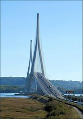 Le Pont de Normandie (76) 4 octobre 2018.